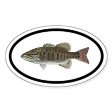 Smallmouth Bass Fishing Oval Decal