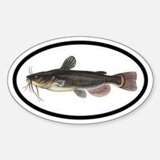 Catfish Fishing Oval Decal
