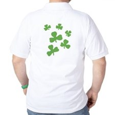 Lucky Green Shamrocks 4 leaf clover T-Shirt