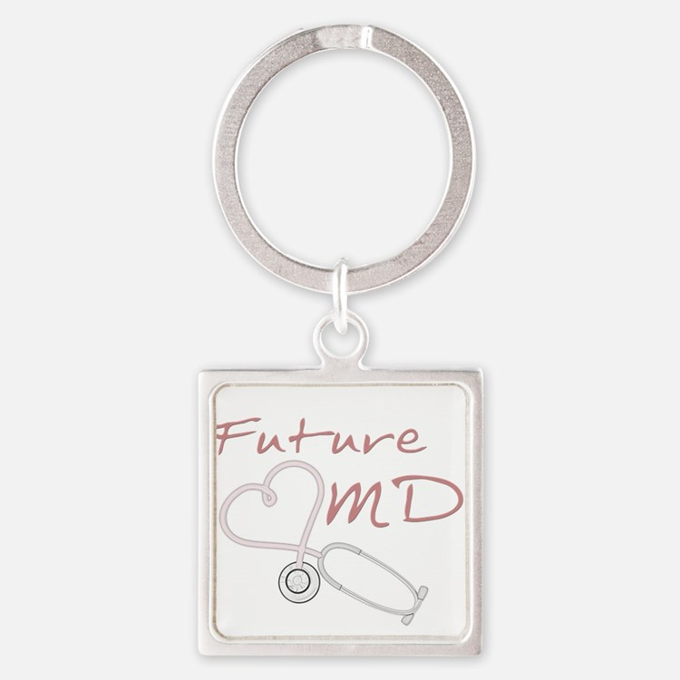 Cute Future doctor Square Keychain