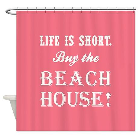 life is short shower curtain by beachdecor