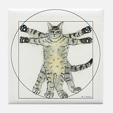 Unique Tabby cats Tile Coaster