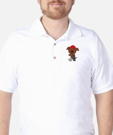 Broken Leg Dog Golf Shirt