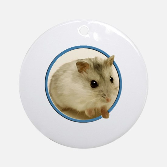 Cute Hamster Round Ornament