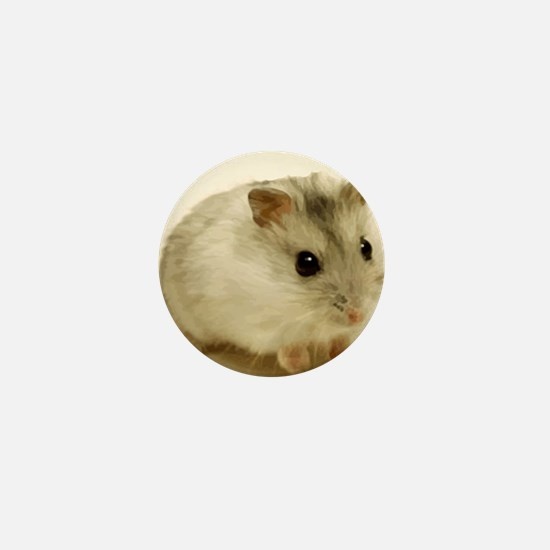 Teeny Hamster in Circle Mini Button (10 pack)
