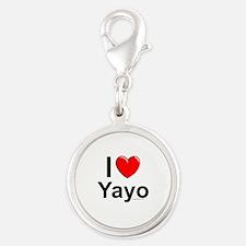 Yayo Silver Round Charm
