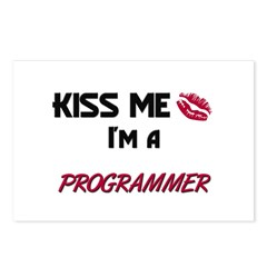 Kiss Me I'm a PROGRAMMER Postcards (Package of 8)