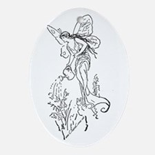 Caring Fairy - Black - Oval Ornament