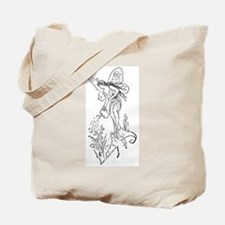 Caring Fairy - Black - Tote Bag