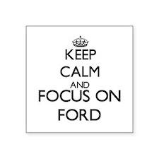 "Cute Ford Square Sticker 3"" x 3"""