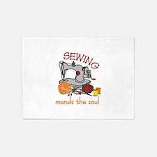 Sewing Saying 5'x7'Area Rug