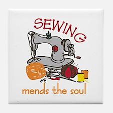 Sewing Saying Tile Coaster