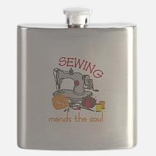 Sewing Saying Flask
