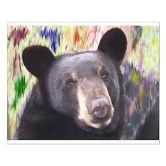 Black Bear Face Posters