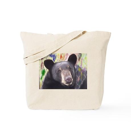 Black Bear Face Tote Bag