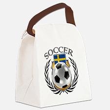 Cute Swedish football Canvas Lunch Bag