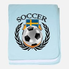 Sweden Soccer Fan baby blanket