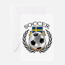 Sweden Soccer Fan Greeting Cards