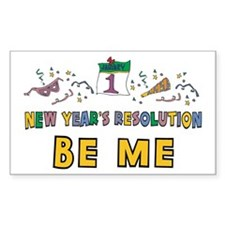 New Year Resolution Rectangle Decal