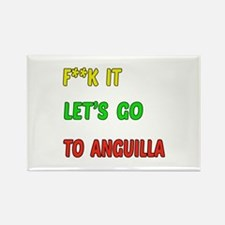 Let's go to Anguilla Rectangle Magnet