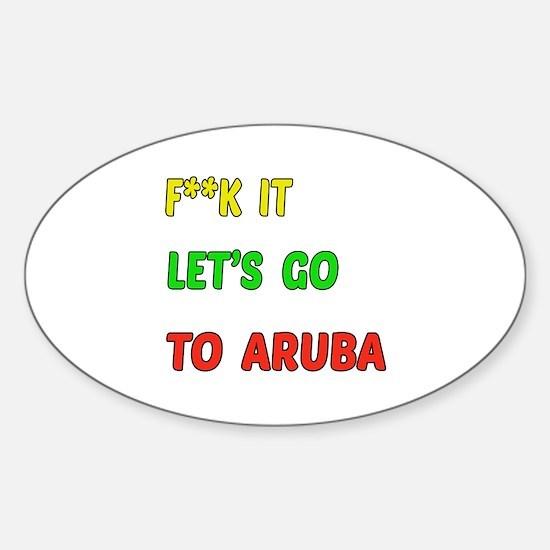 Let's go to Aruba Sticker (Oval)