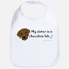 Cool Chocolate lab Bib