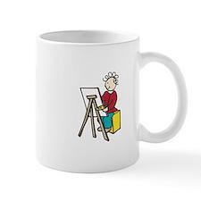 Girl Artist Mugs