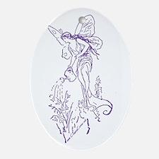 Caring Fairy - Purple - Oval Ornament