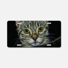 Fractal Cat Aluminum License Plate