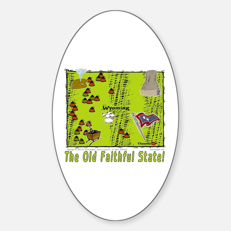 WY-Old Faithful! Oval Decal