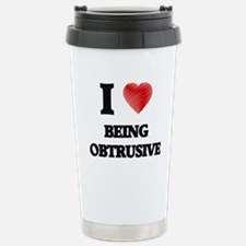 being obtrusive Stainless Steel Travel Mug