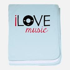 iLove Music baby blanket