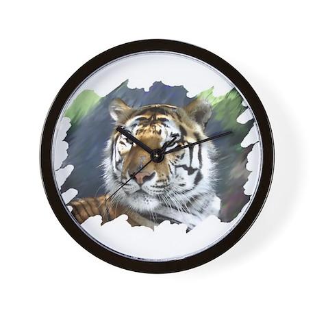 Siberian Tiger Face Wall Clock