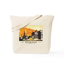 Vintage Edinburgh Travel Post Tote Bag