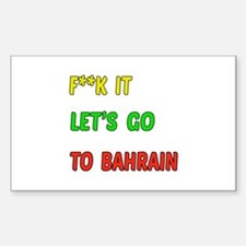 Let's go to Bahrain Decal
