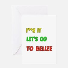 Let's go to Belize Greeting Card
