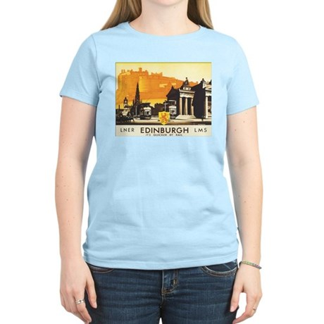 Vintage Edinburgh Travel Post Women's Light T-Shir