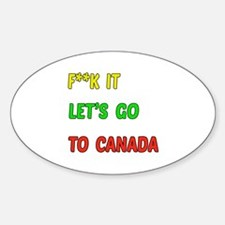 Let's go to Canada Decal