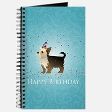 Cute Yorkie birthday Journal