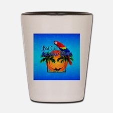 Island Time And Parrot Shot Glass