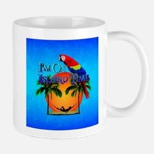 Island Time And Parrot Mugs