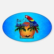 Island Time And Parrot Bumper Stickers