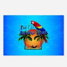Island Time And Parrot Postcards (Package of 8)