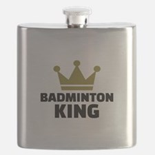Badminton king champion Flask