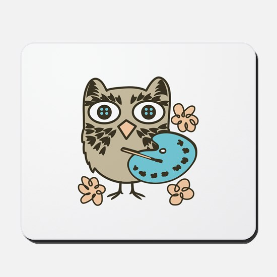 Owl Painter Mousepad
