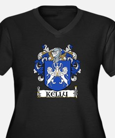Kelly Coat of Arms Women's Plus Size V-Neck Dark T