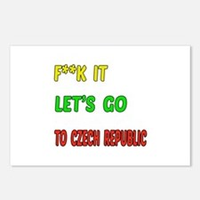 Let's go to Czech Republi Postcards (Package of 8)