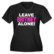 Leave Britney Alone! Women's Plus Size V-Neck Dark