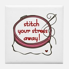Stitch Therapy Tile Coaster