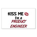 Kiss Me I'm a PRODUCT ENGINEER Sticker (Rectangula